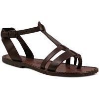 Schoenen Dames Sandalen / Open schoenen Gianluca - L'artigiano Del Cuoio 572 D MORO CUOIO Testa di Moro