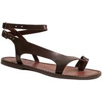Schoenen Dames Sandalen / Open schoenen Gianluca - L'artigiano Del Cuoio 526 D MORO CUOIO Testa di Moro