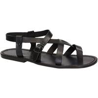 Schoenen Heren Sandalen / Open schoenen Gianluca - L'artigiano Del Cuoio 530 U NERO CUOIO nero