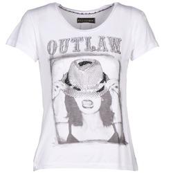 Textiel Dames T-shirts korte mouwen Religion B123OLT45 Wit
