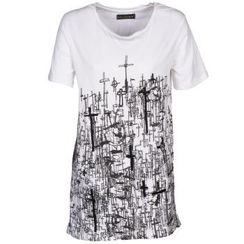 Textiel Dames T-shirts korte mouwen Religion B123CND13 Wit