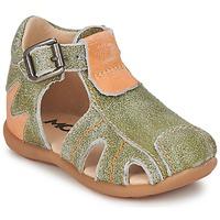 Schoenen Jongens Sandalen / Open schoenen Mod'8 ALUCINE Groen / Orange