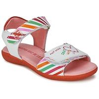 Schoenen Meisjes Sandalen / Open schoenen Agatha Ruiz de la Prada CAZOLETA Wit / Multikleuren