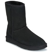Schoenen Dames Laarzen UGG CLASSIC SHORT  zwart