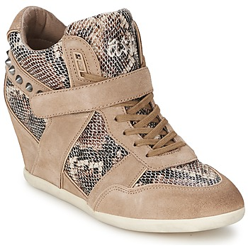 Schoenen Dames Hoge sneakers Ash BISOU Taupe / Python