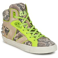 Schoenen Dames Hoge sneakers Ash SONIC Python / Geel