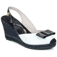 Schoenen Dames Sandalen / Open schoenen RAS FROI Zwart / Wit