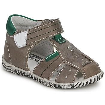 Schoenen Jongens Sandalen / Open schoenen Primigi QUINCY Grijs / Groen