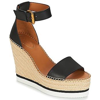 Schoenen Dames Sandalen / Open schoenen See by Chloé SB26152 Zwart / Wit
