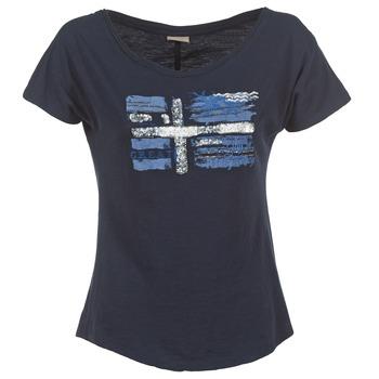 Textiel Dames T-shirts korte mouwen Napapijri SINK Marine