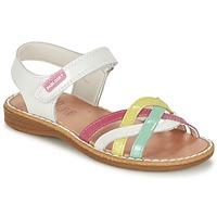 Schoenen Meisjes Sandalen / Open schoenen Pablosky ATINA Wit / Multikleuren