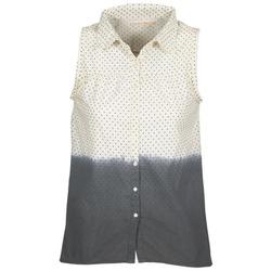 Textiel Dames Overhemden Teddy Smith CAMILLE Blauw / Ecru