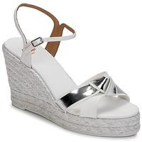 Schoenen Dames Sandalen / Open schoenen Castaner BESSIE Wit / Zilver