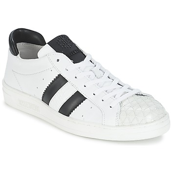 Schoenen Dames Lage sneakers Bikkembergs BOUNCE 594 LEATHER Wit / Zwart