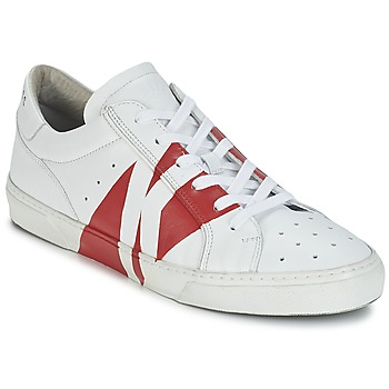 Schoenen Heren Lage sneakers Bikkembergs RUBB-ER 668 LEATHER Wit / Rood