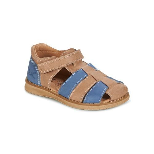 Schoenen Jongens Sandalen / Open schoenen Citrouille et Compagnie FRINOUI Brown / Blauw