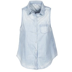 Textiel Dames Overhemden korte mouwen Pepe jeans POCHI Blauw