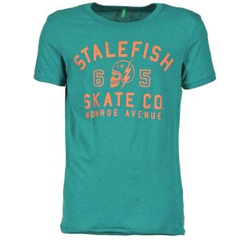 Textiel Heren T-shirts korte mouwen Benetton IXIDINE Groen