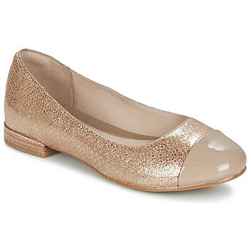 Schoenen Dames Ballerina's Clarks FESTIVAL GOLD Champagne