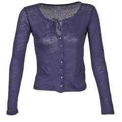 Textiel Dames Vesten / Cardigans Majestic BATHILDE Blauw