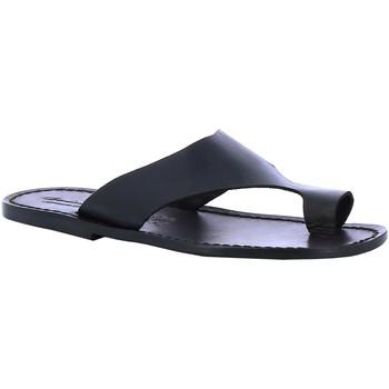 Schoenen Heren Slippers Gianluca - L'artigiano Del Cuoio 521 U NERO CUOIO nero