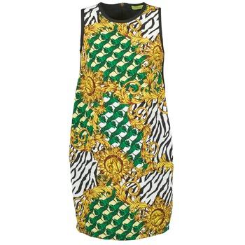Textiel Dames Korte jurken Versace Jeans NDM909 BIS Zwart / Multikleuren