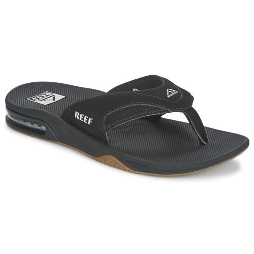 Schoenen Heren Slippers Reef FANNING Zwart