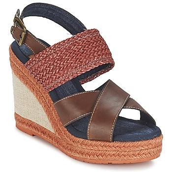 Schoenen Dames Sandalen / Open schoenen Napapijri BELLE Brown / Donker / Rood