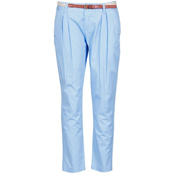 Textiel Dames Chino's La City PANTBASIC Blauw