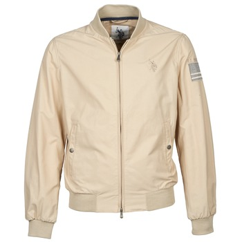 Textiel Heren Wind jackets U.S Polo Assn. USA FLAG BOMBER Beige