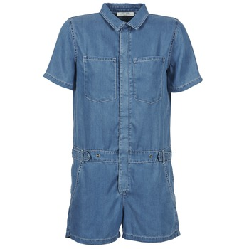 Textiel Dames Jumpsuites / Tuinbroeken Teddy Smith CALINCA DENIM LYOCELL Blauw