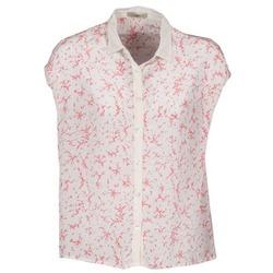 Textiel Dames Overhemden korte mouwen Lola CANYON Wit / Rood