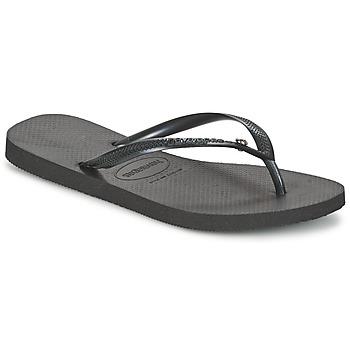 Schoenen Dames Slippers Havaianas SLIM CRYSTAL GLAMOUR SWAROVSKI Zwart