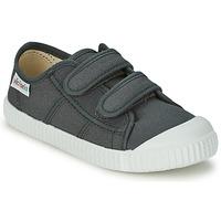 Schoenen Kinderen Lage sneakers Victoria BLUCHER LONA DOS VELCROS Antraciet