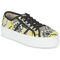 Schoenen Dames Lage sneakers Victoria BASKET ETNICO PLATAFORMA Zwart / Geel