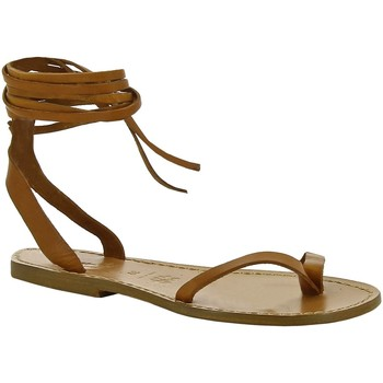 Schoenen Dames Sandalen / Open schoenen Gianluca - L'artigiano Del Cuoio 534 D CUOIO CUOIO Cuoio