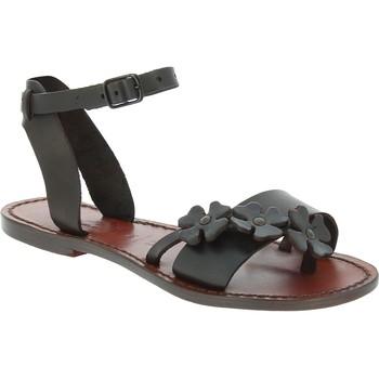 Schoenen Heren Sandalen / Open schoenen Gianluca - L'artigiano Del Cuoio 593 D MORO CUOIO Testa di Moro