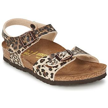 Schoenen Meisjes Sandalen / Open schoenen Birkenstock RIO Leopard / Brown