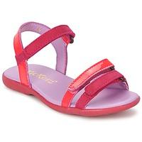 Schoenen Meisjes Sandalen / Open schoenen Kickers ARCENCIEL  FUCHSIA / Roze / Fluo