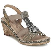Schoenen Dames Sandalen / Open schoenen Remonte Dorndorf TINACE Goud / Zilver