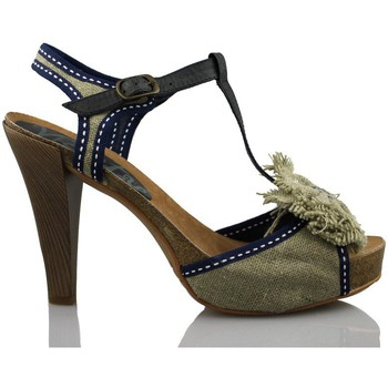 Schoenen Dames Sandalen / Open schoenen Vienty BIO LAZO NATURAL CINTAS AZUL BEIG