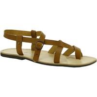 Schoenen Dames Sandalen / Open schoenen Gianluca - L'artigiano Del Cuoio 530 U CUOIO LGT-GOMMA Cuoio