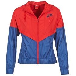 Textiel Dames Windjacken Nike WINDRUNNER Marine / Rood