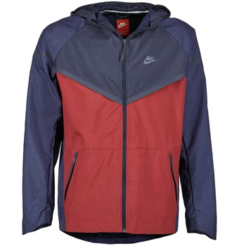 Textiel Heren Windjacken Nike TECH WINDRUNNER Rood / Marine / Grijs