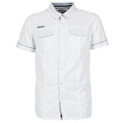 Textiel Heren Overhemden korte mouwen Deeluxe ISLANDO Wit
