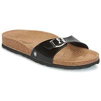 Schoenen Dames Leren slippers Casual Attitude TERTROBAL Zwart / Verni