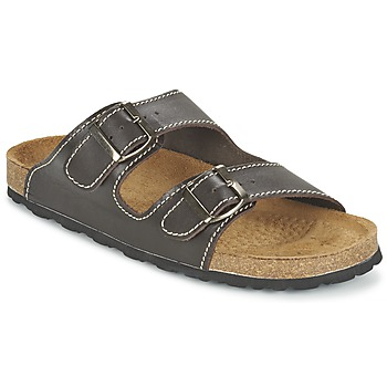 Schoenen Heren Leren slippers Casual Attitude TERTROBAL Brown