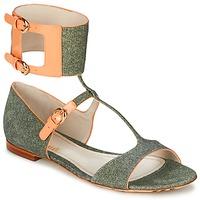 Schoenen Dames Sandalen / Open schoenen John Galliano A65970 Groen / Beige