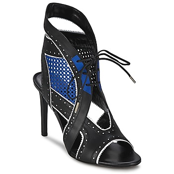 Schoenen Dames Sandalen / Open schoenen Roberto Cavalli XPS254-PZ448 Zwart / Blauw