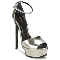 Schoenen Dames Sandalen / Open schoenen Roberto Cavalli XPS260-PZ048 Grijs / Zilver